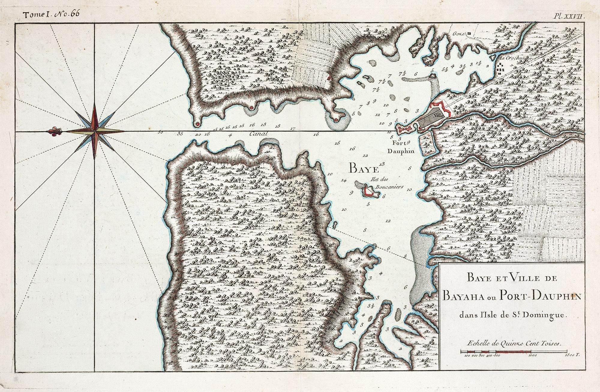 Baye et ville de Bayaha ou Port-Dauphin dans l'isle de St.Domingue