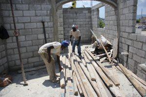 Building a house, St. Marc, Haiti