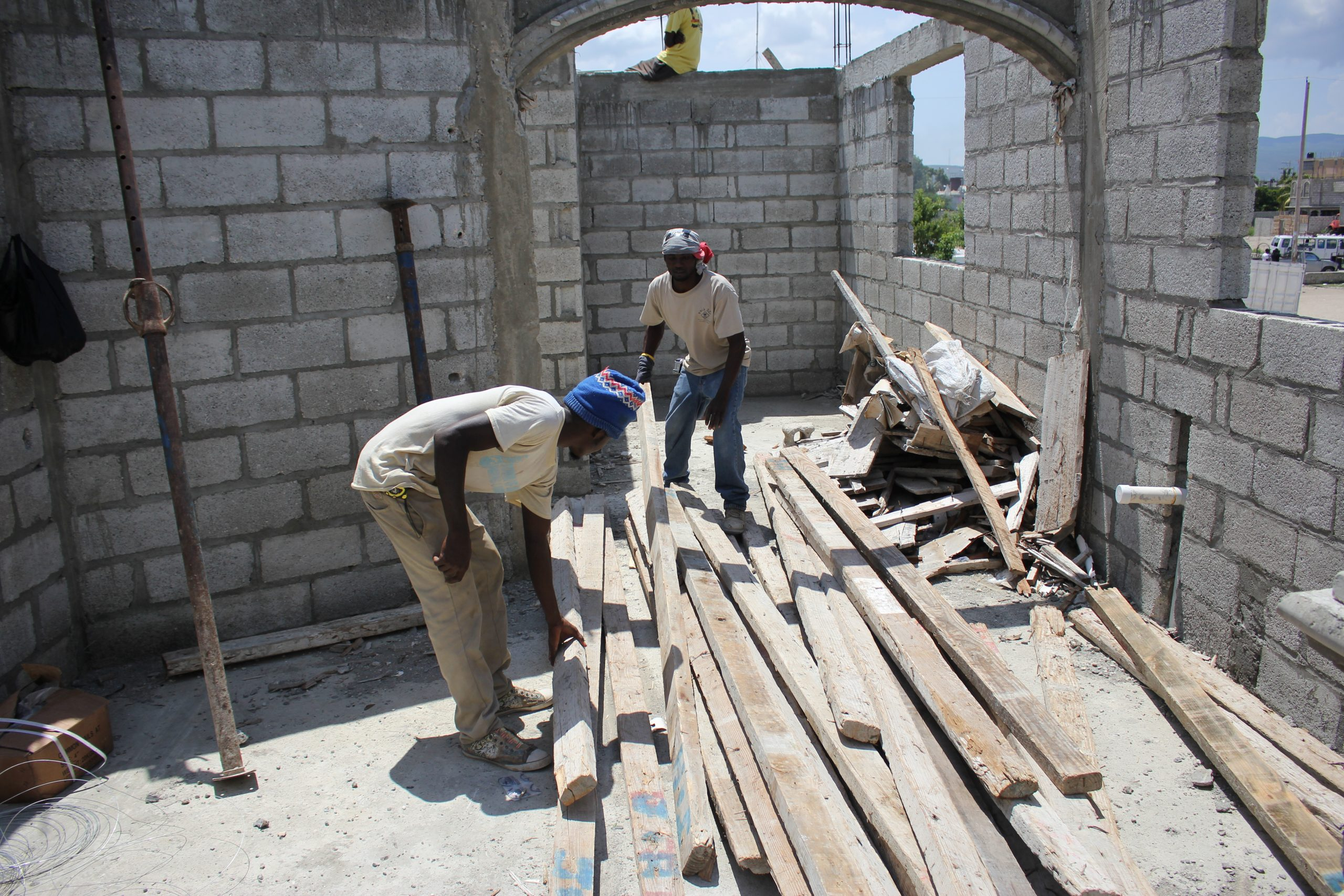 Building a house, St. Marc, Haiti