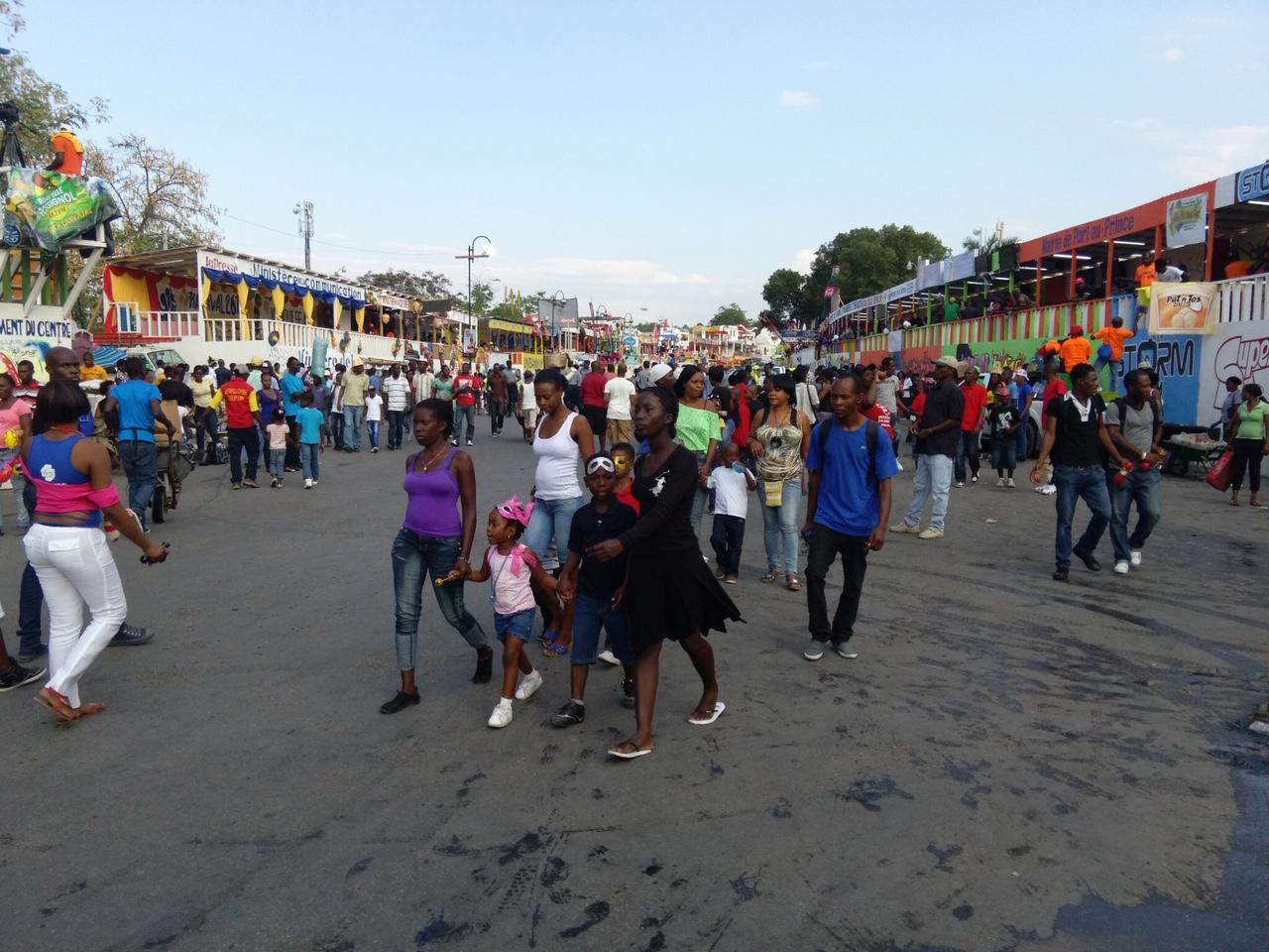 Haitian Carnival, daytime street scene (2015)