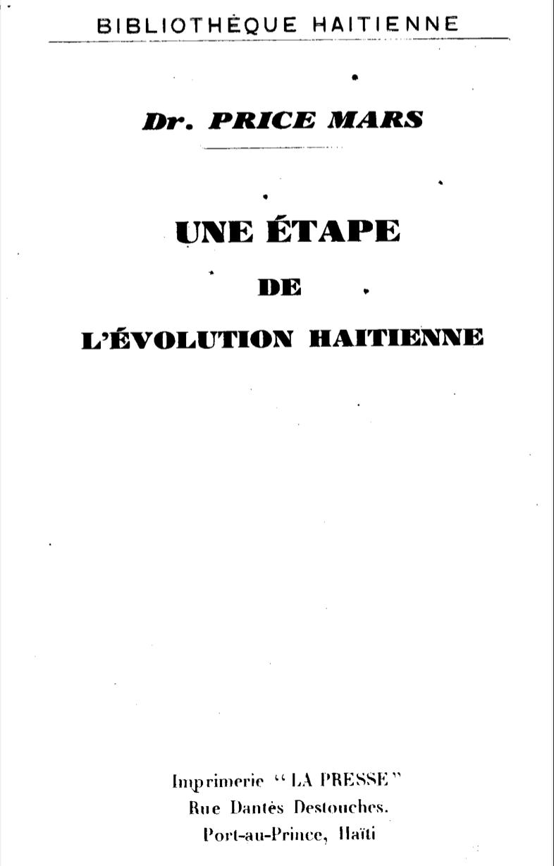 Une Étape de l'Évolution Haïtienne