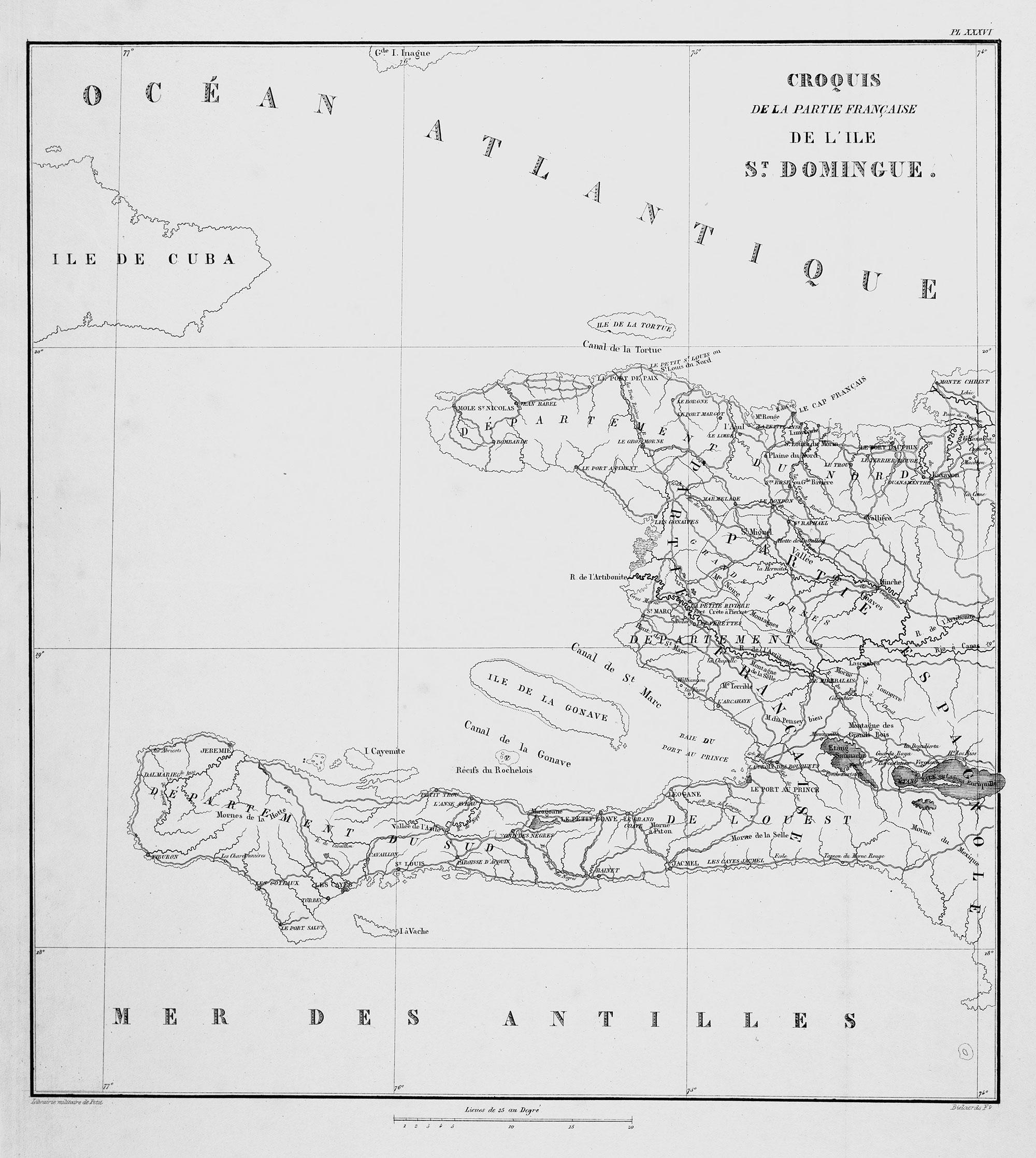Croquis de la Partie Francaise de l'Ile de Saint Domingue