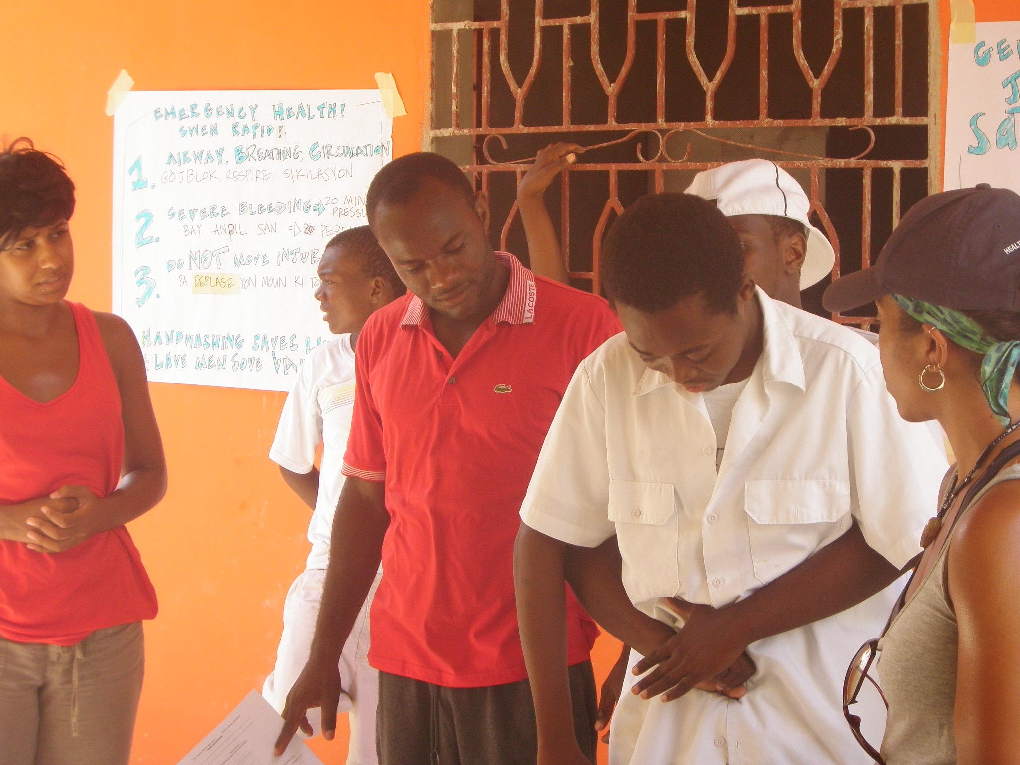 Health training demonstration