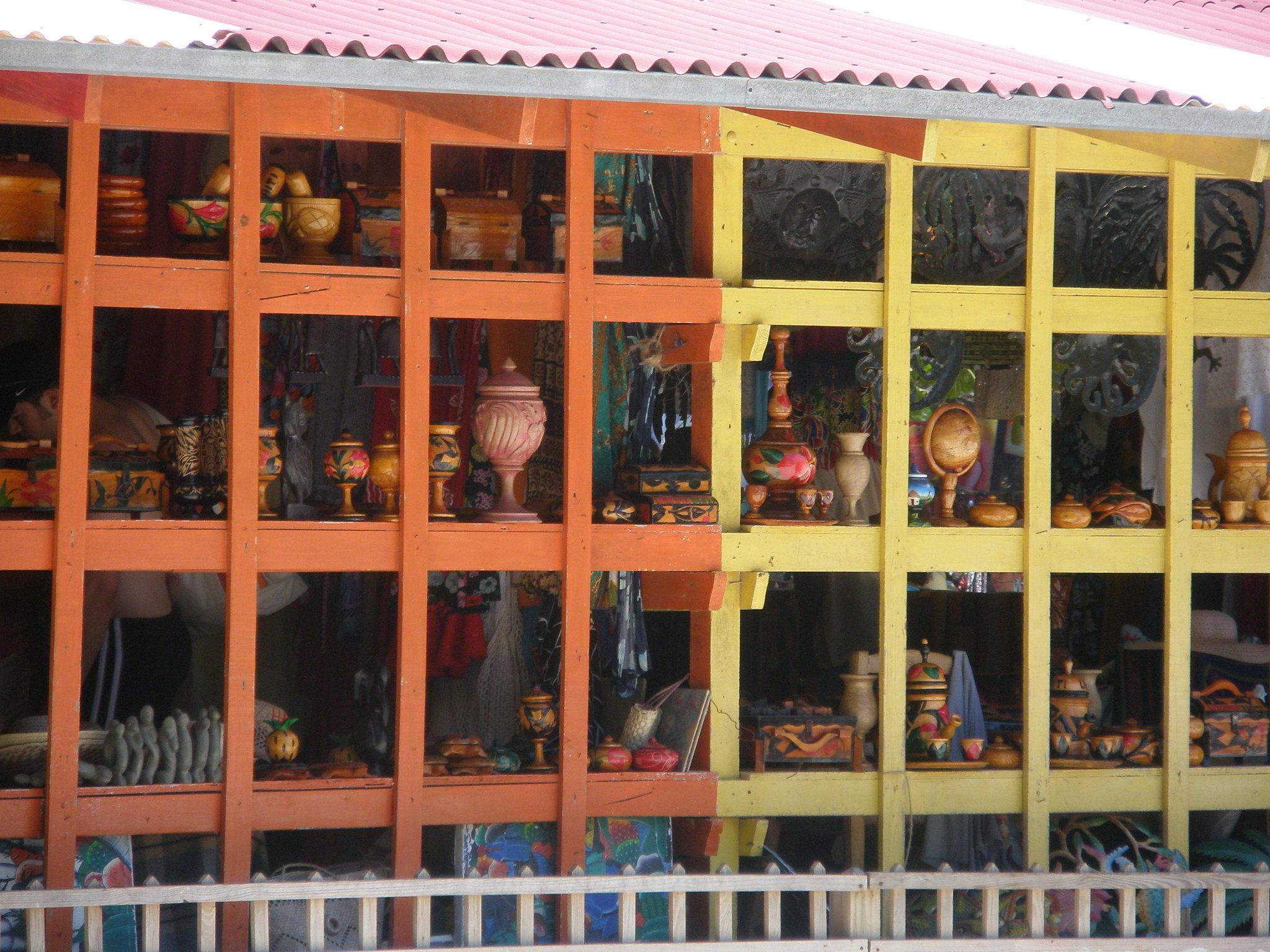 Tourist market in Labadee