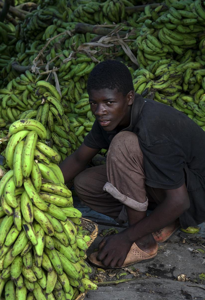 Boy Selling Bananas