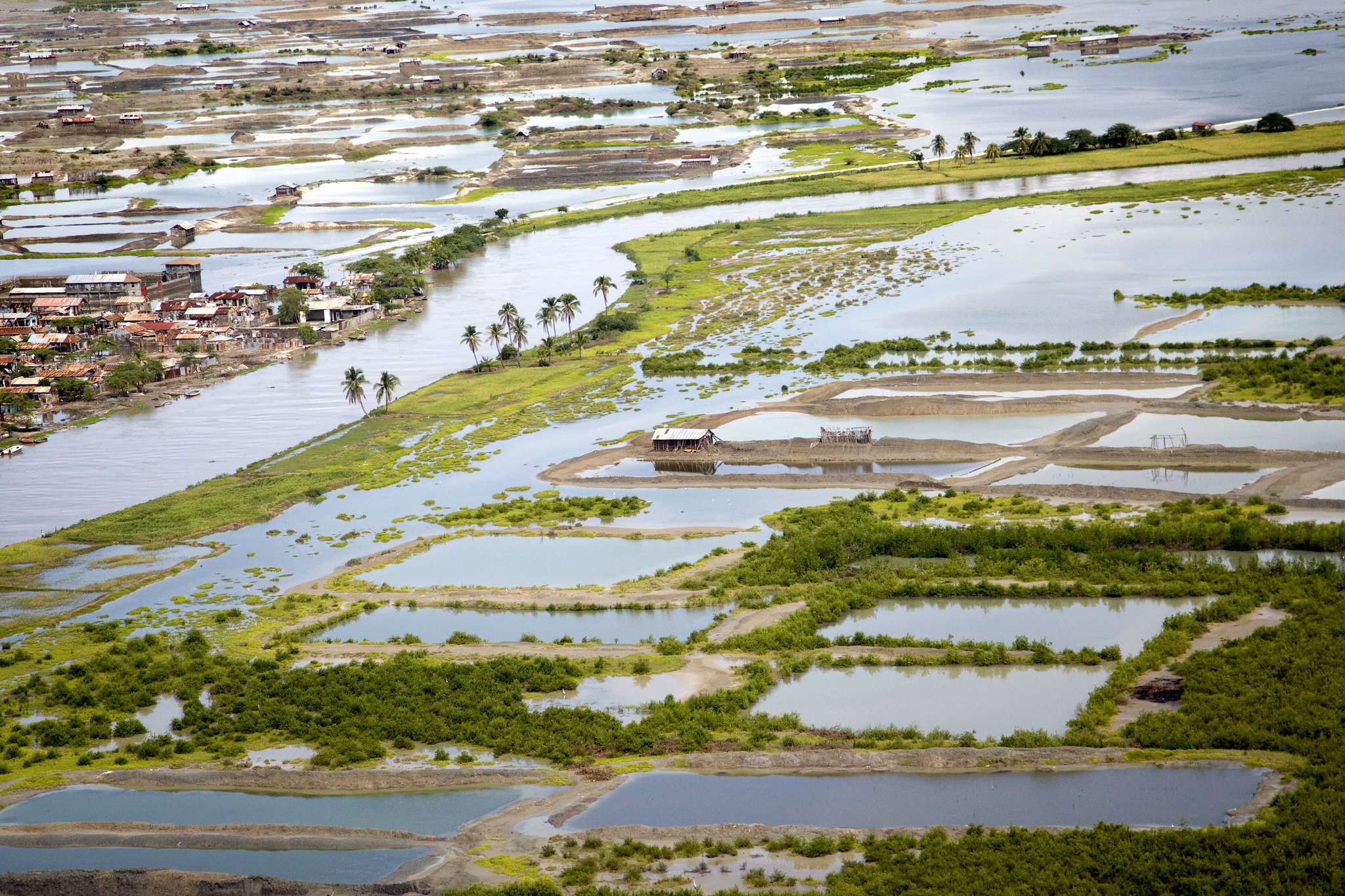 Grande Saline after Hurricane Tomas