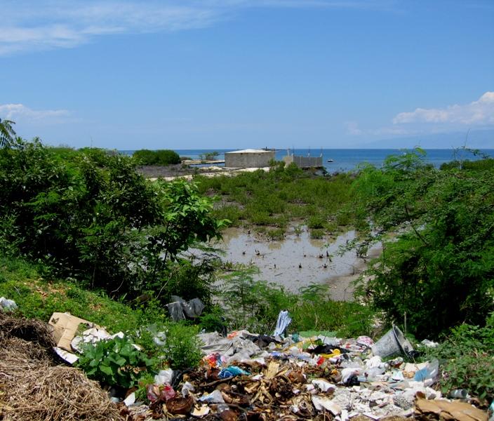 Ocean- Front view in Haiti