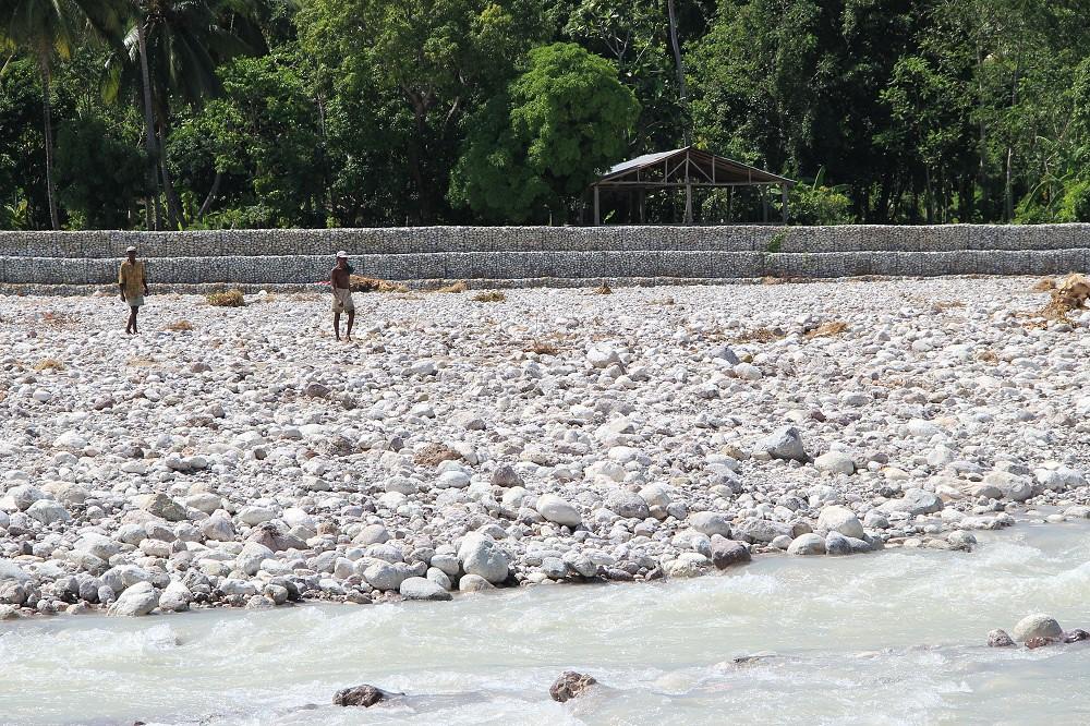 Haitian River gabion walls