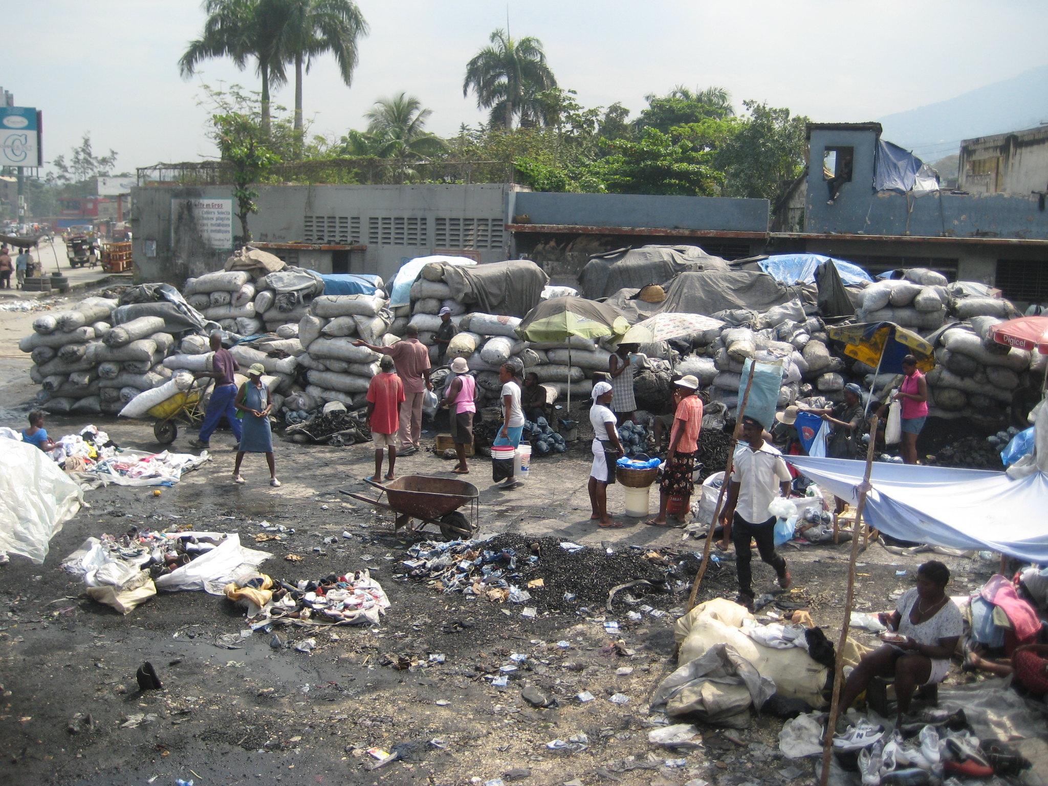 Charcoal Market, Haiti
