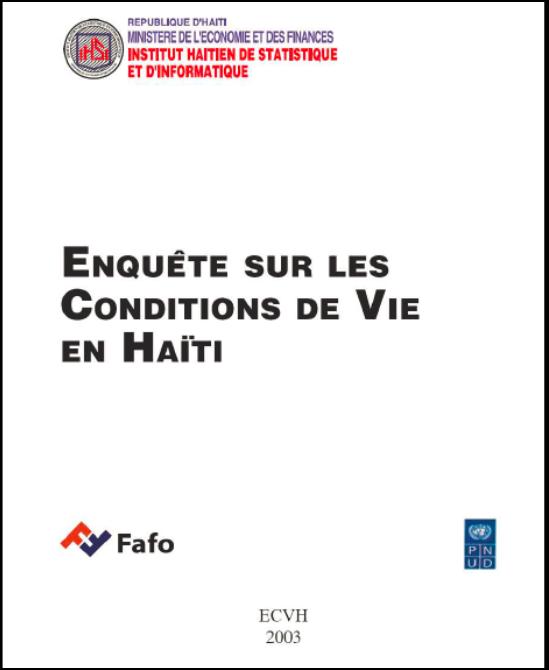 Read more about the article L'Enquête sur les Conditions de Vie en Haïti (ECVH).