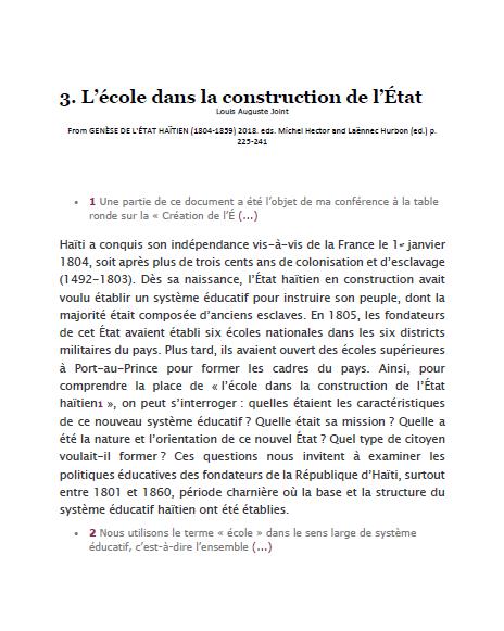 Read more about the article L'école dans la construction de l'État (2018)