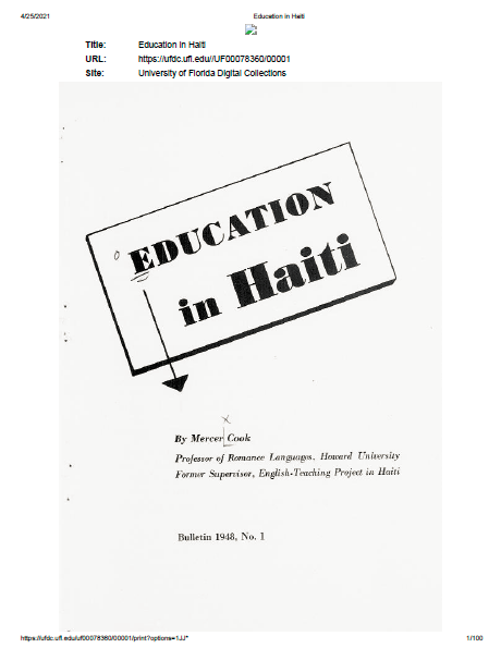 Read more about the article Education in Haiti (1948)