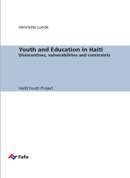 Read more about the article Youth and Education in Haiti Disincentives, vulnerabilities and constraints