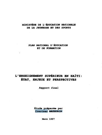 Read more about the article PLAN NATIONAL D'ÉDUCATION ET DE FORMATION (1998)