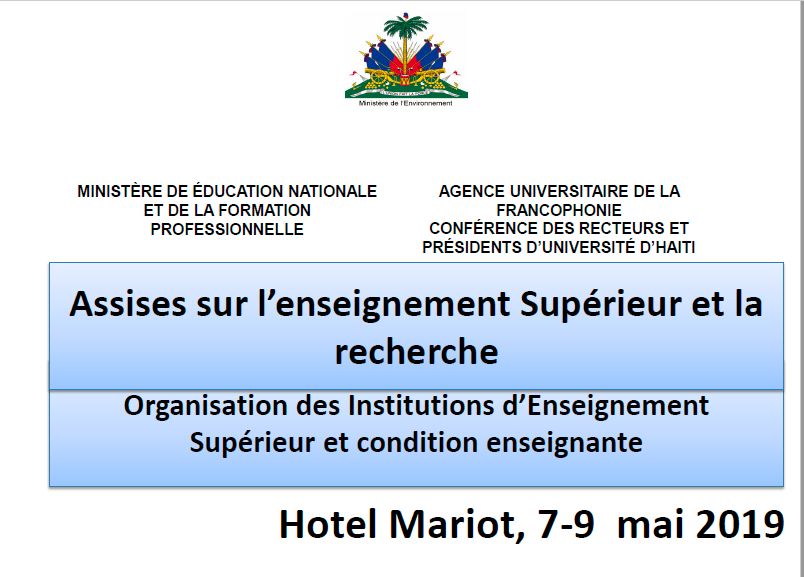 Read more about the article Assises sur l'enseignement Supérieur et la recherche (2019)